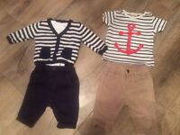 Next baby boy 0-3 months outfits