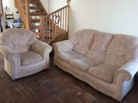 Sofa bed and 2 matching chairs