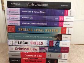 First year Undergraduate Law books