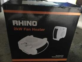 Rhino Fan Heater 2 kw 230v