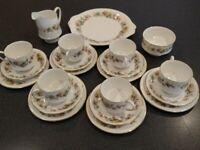 Royal Standard Fine Bone China - 21 Piece Floral Tea set.