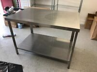 Steel Table Large catering shop