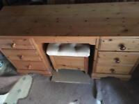 Dresser table with chair