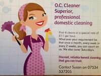 O.C. Cleaner - looking for a local company, want someone you know. We are honest and reliable.
