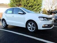 VW Polo 1.2 TSI Blue Motion SEL 5 Door Hatchback in white / 1 owner from new / 27800 miles warranted