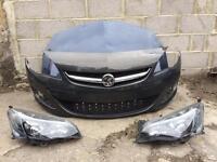 Vauxhall Astra J facelift 2012 2013 2014 2015 genuine front bumper + headlights + bonnet for sale