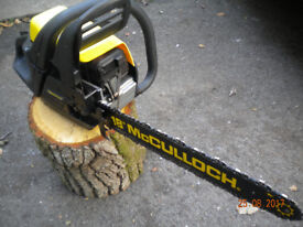 McCULLOCH CHAINSAW - Working order.