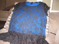 Women's black lacy effect top from Papaya collection. Size 10