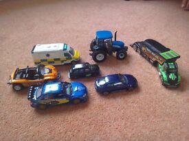 Various model cars and vehicles