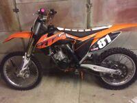 ktm sx125 2013 clean bike