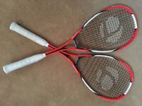ONLY USED ONCE pair of Squash Rackets from Decathlon House clearance