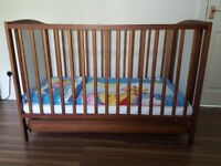 BABY COT BED WITH MATTRESS in perfect condition.