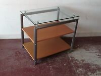 3 Tier Glass Topped TV Stand Unit