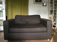 HEALS 2-seater sofa - high quality, chocolate brown, comfortable, good condition, needs a clean