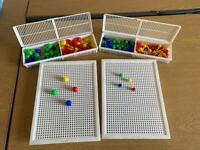 Toy pegs and peg boards