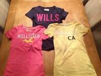 Jack Wills and Hollister T-shirts, approx size 8