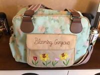 Pink lining blooming gorgeous changing bag