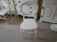 LOVELY BEDROOM / BATHROOM CHAIR PAINTED WHITE