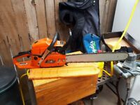 Woodfield 60 cc chain saw for sale 20 inch bar good work horse £30 no offers
