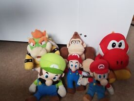 6 Mario character soft toys for sale