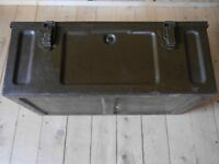Old Army Storage Box with Handles