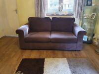 Two & three seater sofa plus footstool