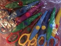 Children's arts & crafts safety patterned scissors