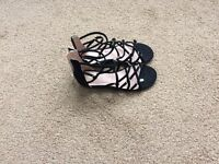 Black sandals from Top Shop size 5.