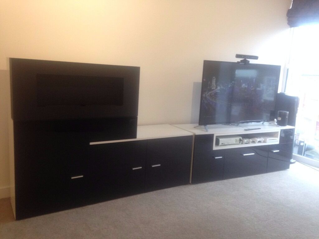 Tv Entertainment Centre With Built In Biofuel Fireplace