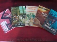 5 x BOOKS IN FRENCH BY FRANCOIS MAURIAC
