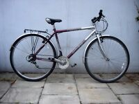 Mens Hybrid/ Commuter Bike by Universal, Silver & Burgandy, JUST SERVICED/ CHEAP PRICE!!!!!!!!!!!!!!