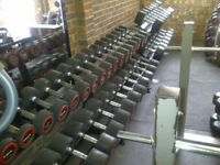 Escape Dumbbells inc Racks-51 dumbbells/1458kg FREE UK DELIVERY £1150 ONO