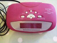 Matsui Clock /Alarm / FM Radio Model CR503P.