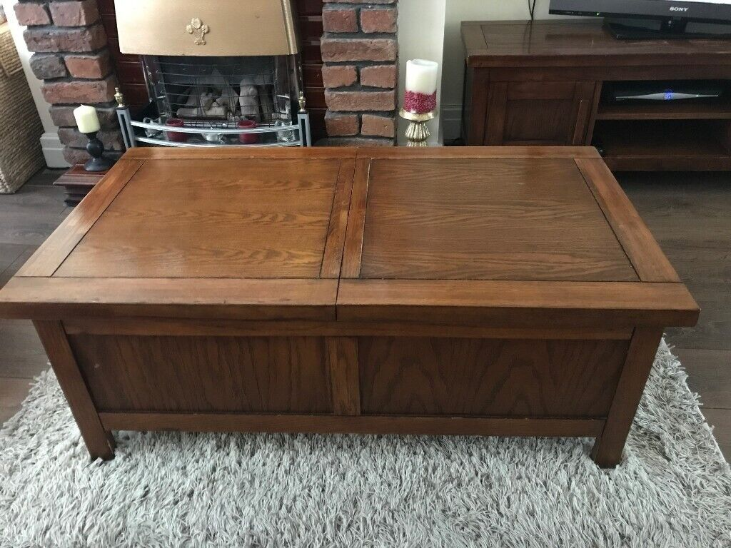 Coffee Table With Sliding Top Storage.Solid Wood Coffee Table With Sliding Top Storage In Didsbury Manchester Gumtree