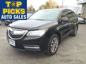 2015 Acura MDX TECH PACKAGE, LEATHER, SUNROOF, NAV, AWD, ONLY 32