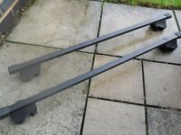 2 THULE roof bars for cars with roof rails,
