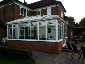 Conservatory, PVC with glass roof