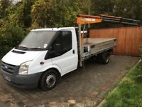 Ford transit hiab truck 115t350 2007 143,000 12ft alloy dropside