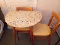 Small table and two chairs