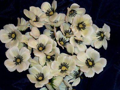 60 x Anemone weiß/creme ca. 6cm Streublüten/ Streudeko Kunstblumen