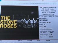 The Stone Roses 1x seated ticket Wembley Saturday 17th June
