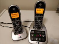 BT twin cordless phones, w/answer machine