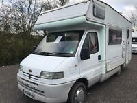 Peugeot boxer with a Elddis autoguest elite 350d 5 berth motor home