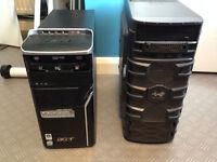 acer Core 2 Quad PC + gaming PC Case
