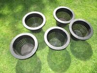Pond plant pots unused size approx 9 inch diameter and 7 inch deep
