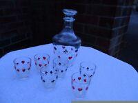 Retro drinking glasses set