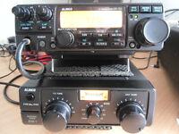 Alinco DX-70TH HF Radio and rare Alinco EDX-1 manual ATU