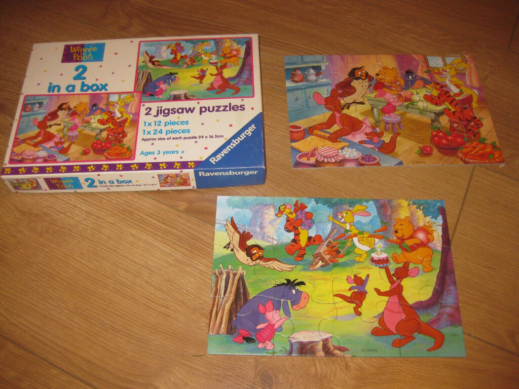 WINNIE THE POOH PUZZLE BOX for 3+ 2 PUZZLES in IMMACULATE CONDITION - NOW REDUCED!