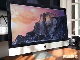 Apple iMac 27 - Intel 3.4Ghz i7 QC - 2TB SSD - 8GB Ram - 2GB Graphics Logic X Final Cut X Adobe CS6