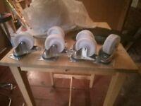 6 x heavy duty castors